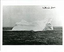 The Titanic Iceberg: 8x10 inch photo of the iceberg thought to have been th