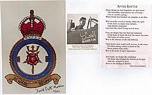 Air Vice Marshal David Scott - Malden DSO DFC Signature on photograph of 61