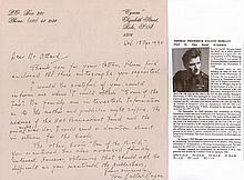 Group Captain Tom Dalton-Morgan DSO OBE DFC Good handwritten letter with fi