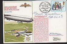 Werner Vermehren signed RNSC(2)18 60th anniversary of the last flight from