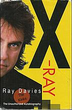 Ray Davies The Kinks signed hardback book X-Ray dedicated to Willie. Good C