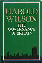Sir Harold Wilson signed hardback book The Governance of Britain. Good Cond