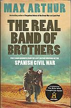 Four Spanish Civil War veterans signed inside Hardback Max Arthur Book The