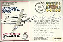 Lord Mackie 1978 C54 115 Sqn Last Flight in Royal Air Force service cover.