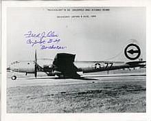 Nagasaki Pilot: 8x10 inch photo signed by Fred Olivi, co-pilot of B-29 'Boc