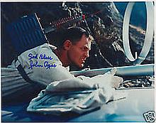 John Agar and, A 20cm x 25cm, 10 x 8 inches photo of John Agar and signed b