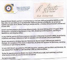 Warrant Officer Reginald Robert Stretch Signature of an unsung Wireless Ope
