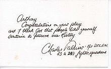 Flight Lieutenant G.C.C. Charles Palliser DFC Good personal handwritten not