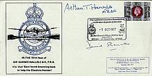 Arthur Harris & David Shannon Dambuster pilot signed Barnes Wallis 90th Bir