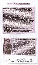 Signature of Air Commodore John Ellacombe CB DFC 151 with published persona