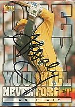 Sport Collection Ian Healy, Australian test cricketer signed trading card.