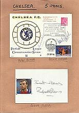 Chelsea Football collection of 5 signed covers and magazine photos includin