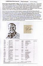 Wing Commander Robert H.M. Gibbes DSO DFC* 3 Sqn RAAF. Signature of Desert