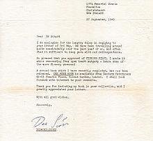 Group Captain Desmond J. Scott DSO OBE DFC* RNZAF Signature on fine art car