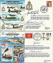 WW2 signed collection. Sixteen 50th ann WW2 JS50 VIP signed covers.. JS/50/
