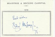 Sir Richard Attenborough signed A5, half A4 size white sheet with Braintree