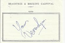 Dame Vera Lynn signed A5, half A4 size white sheet with Braintree & Bocking