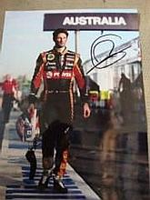 Romain Grossean Formula One Motor Racing driver personally signed 16x12 ph