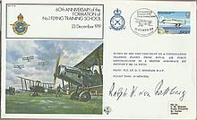 "Luftwaffe ace Ralph von Rettberg signed RAF FF(12) cover - 200 missions ""Lu"