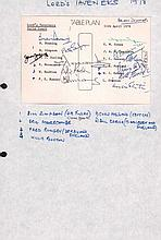 Eric Morecambe & other Lord Taverners signed 1978 table plan. Also signed b