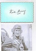 Group Captain E.K. Kildey DFM Signature of RAAF. Ace credited with 5 victor