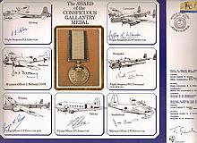 Seven CMG medal winners RAF First Day Cover Of Large Conspicuous Gallantry