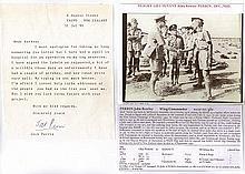 Wing Commander John Rowley 'Jock' Perrin DFC RAAF Signature of Desert Air W