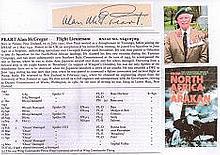Flight Lieutenant Alan McGregor Peart DFC RNZAF Signature of Tunisian, Ital