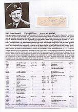 Flight Lieutenant John Donald Rae DFC* RNZAF. Note from Kiwi ace with 11 co