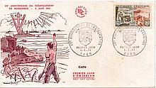 French First Day Cover unsigned for Caen commemorating 20th Anniversary (19