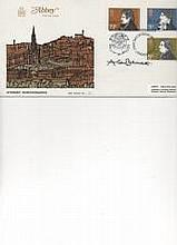 "Author & Playwright Alan Bennett Signed Abbey "" Literary Anniversaries"" FDC"