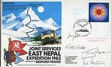 Nepal multi-signed: 1983 Joint Services Expedition to Nepal cover signed by