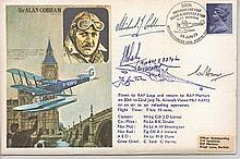 Sir Alan Cobham commemorative FDC. Signed by two of 'The Few' who as boys h