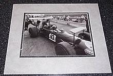 Brabham Jack A 22cm x 16cm image taken from a book, clearly signed in black