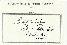 Bill Pertwee signed A5, half A4 size white sheet with Braintree & Bocking C