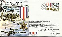WW2 50th Ann VIP signed cover JS/50/45/12Fc Victory in Europe 1945, flown b