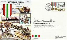 WW2 50th Ann VIP signed cover JS/50/45/12Ec Victory in Europe 1945.Signed J