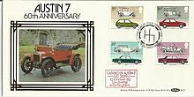 Benham Austin 7 60th Anniversary FDC dated 13th October 1982. Carried by Au