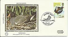 1980 Birds Set of five Benham small silks commemorating British Birds dated