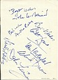 Dads Army signed 6 x 4 card by Arthur Lowe, John