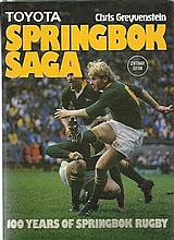 Springbok Saga Book 100 years of Springbok Rugby, published by Don Nelson, third edition, 1989. Larg