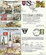JS50 collection of 7 covers which include JS50/44/1 Sinking of the Tirpitz, JS50/44/8 Operation Drag