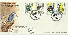 1980 Birds Official Markton Stamps FDC with Norwich special postmark. Good condition