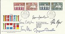 Five Prime Ministers Highly collectable 1984 Europa Royal Mail first day cover with the set of Europ