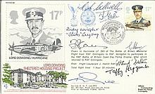 Eight Battle of Britain pilots scarce 1987 Lord Dowding RAF cover signed by EIGHT of the few - Battl