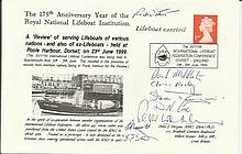 Rare RNLI cover comm 175th ann. 1999 cover carried by the Poole Lifeboat and signed by the Coxswain