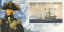 2005, 200th ann of the Battle of Trafalgar Miniature Sheet FDC. Gibraltar FDI postmark. Good conditi