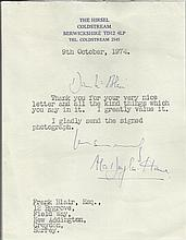 Alec Douglas-Home Lovely typed and handsigned letter by former Prime Minister Lord Home. Signed as A