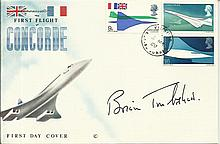 Brian Trubshaw signed 1969 Concorde FDC. Good condition