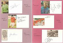 Football Teams Autographs Collection 1. Large folder of football autographs, letters, signature piec